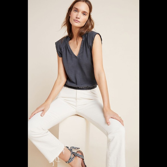 Anthropologie Cloth and Stone V-neck Blouse